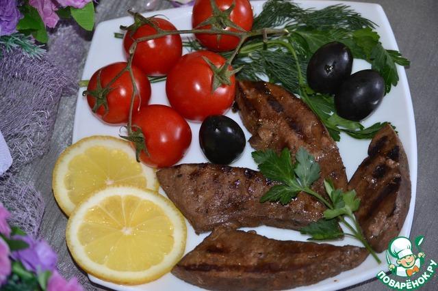 Готовим Нежная печень-гриль вкусный рецепт приготовления с фото #5