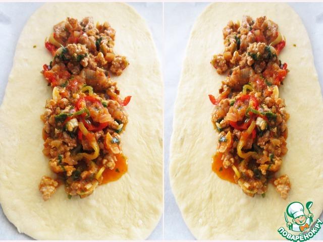 """Турецкая пицца """"Пиде"""" пошаговый рецепт приготовления с фотографиями #19"""