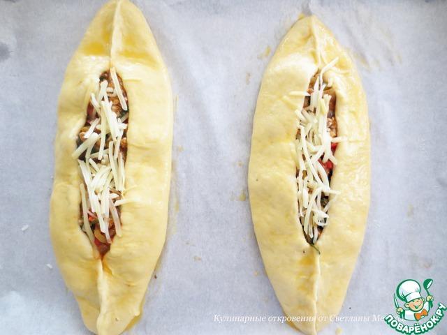 """Турецкая пицца """"Пиде"""" пошаговый рецепт приготовления с фотографиями #21"""
