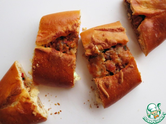 """Турецкая пицца """"Пиде"""" пошаговый рецепт приготовления с фотографиями #22"""