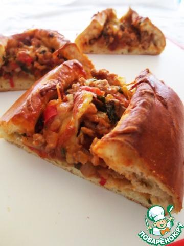 """Турецкая пицца """"Пиде"""" пошаговый рецепт приготовления с фотографиями #23"""