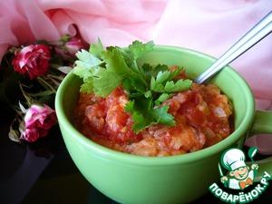 Рецепт Очень густой томатно-хлебный суп
