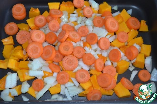 Готовим Овощной паштет из тыквы с орехами простой рецепт приготовления с фото пошагово #1