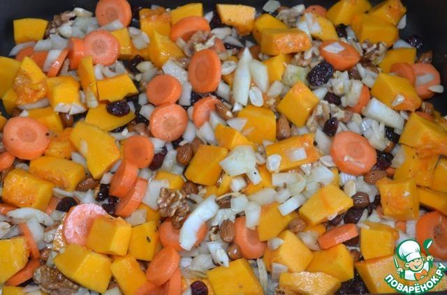Готовим Овощной паштет из тыквы с орехами простой рецепт приготовления с фото пошагово #3