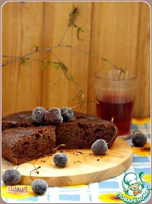 Рецепт Постный вишневый пирог в мультиварке