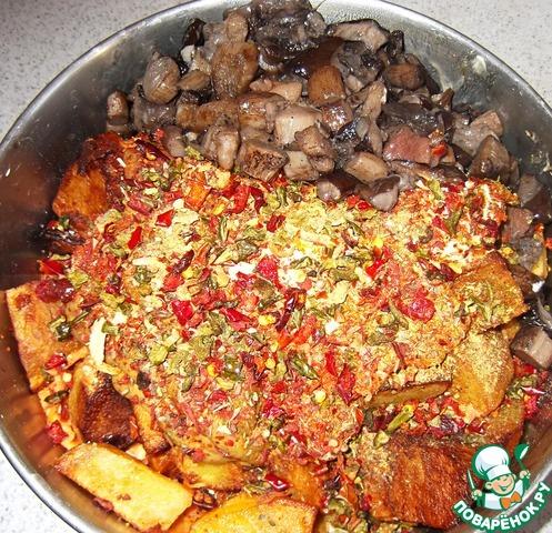 Куриные желудки с катофелем и грибами вкусный пошаговый рецепт приготовления с фотографиями #7