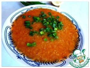 Рецепт Турецкий суп с красной чечевицей