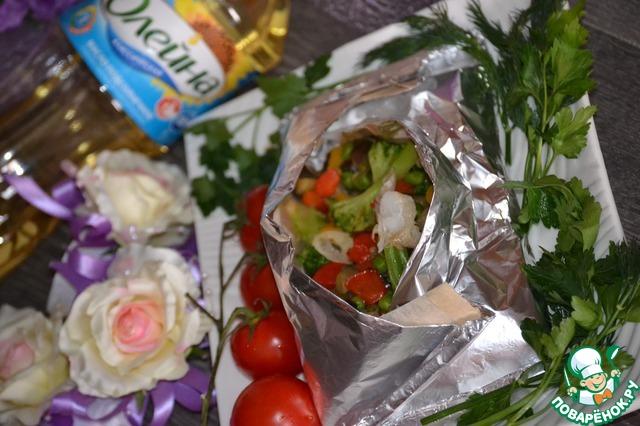 Рыба с овощами в конверте домашний рецепт приготовления с фотографиями готовим #10
