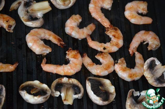 Гриль квартет с креветками простой рецепт приготовления с фото #5