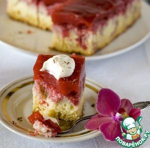 Рецепт Пирог с клубничным пудингом