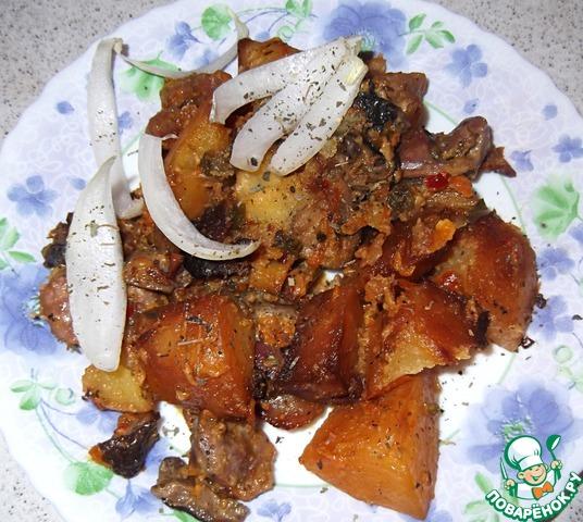 Куриные желудки с катофелем и грибами вкусный пошаговый рецепт приготовления с фотографиями #11