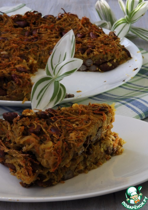 Как приготовить домашний рецепт приготовления с фото Овощная запеканка с фасолью #9
