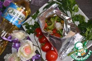 Рецепт Рыба с овощами в конверте