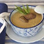 Суп-пюре из гречки с куриной печенью