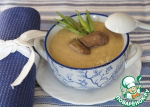 Рецепт Суп-пюре из гречки с куриной печенкой