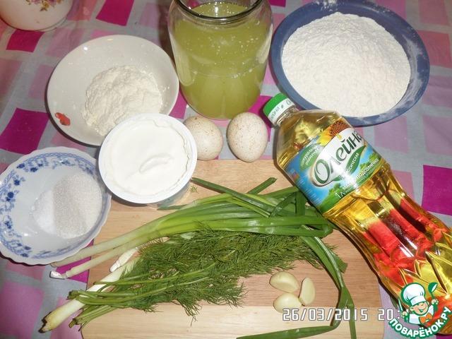 Как приготовить вкусный рецепт с фотографиями Блинчики на сыворотке с творогом и зеленью #1