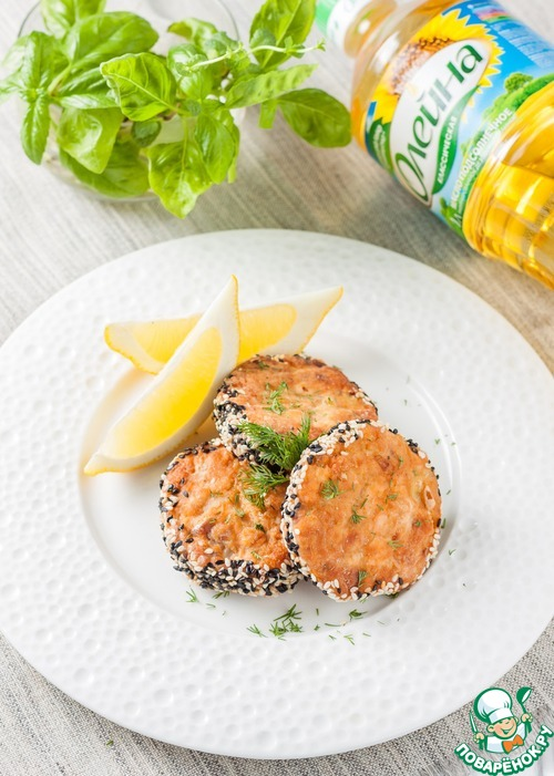 Как приготовить Рубленые рыбные котлеты в кунжутной панировке рецепт приготовления с фото пошагово #10