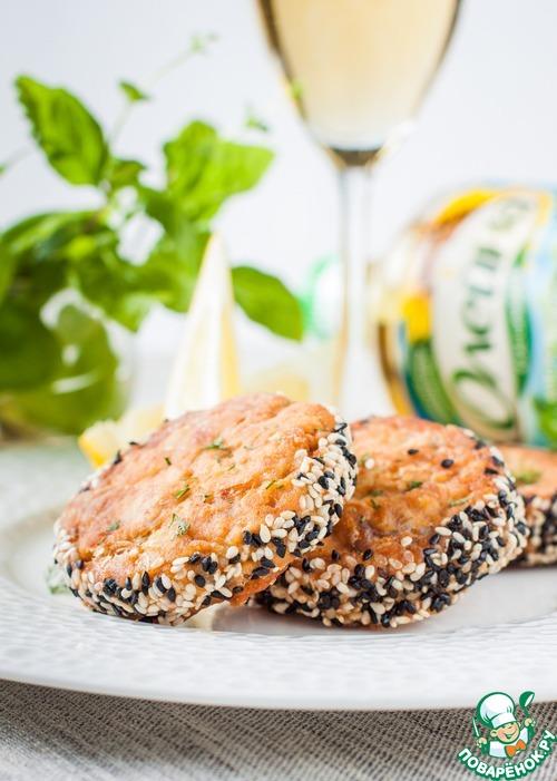 Как приготовить Рубленые рыбные котлеты в кунжутной панировке рецепт приготовления с фото пошагово #9