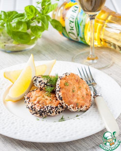 Как приготовить Рубленые рыбные котлеты в кунжутной панировке рецепт приготовления с фото пошагово #8