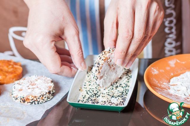 Как приготовить Рубленые рыбные котлеты в кунжутной панировке рецепт приготовления с фото пошагово #5