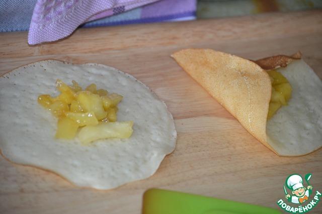 Необычные блинчики с яблоками вкусный пошаговый рецепт приготовления с фотографиями как готовить #6