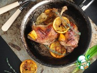 Утиные бедра с яблоками в духовке пошаговый рецепт