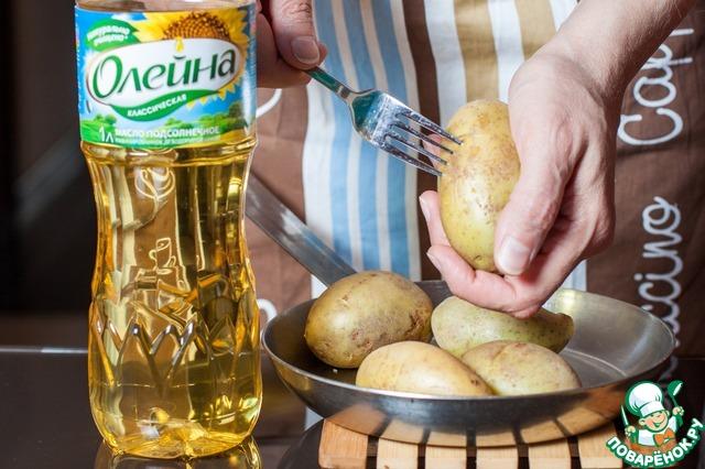 Готовим домашний рецепт приготовления с фото Лодочки из печеного картофеля #1