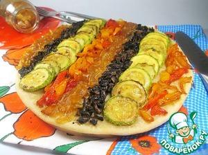 Рецепт Пирог с луковым мармеладом и овощами