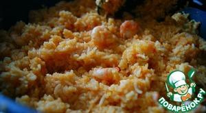 Рецепт Жареный рис басмати с креветками и специями масала