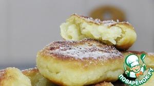 Рецепт Пончики из картофеля с яблоком
