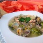 Суп из брокколи с ракушками