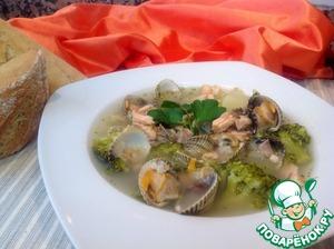 Рецепт Суп из брокколи с ракушками