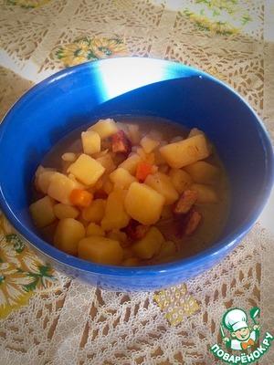 Рецепт Свинина с картошкой, тушенные в мультиварке