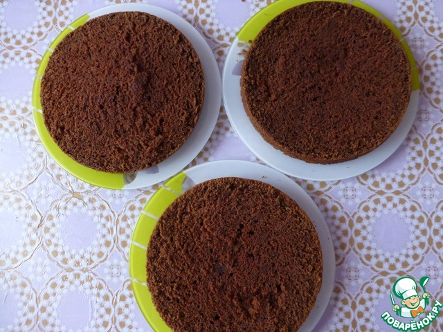 """Пирог в мультиварке """"Шоколад на кипятке"""" домашний пошаговый рецепт с фотографиями как готовить #7"""