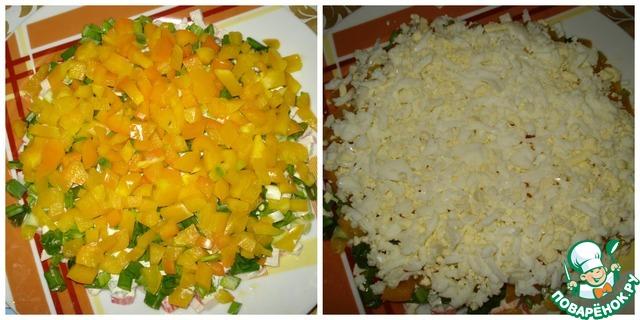 """Как приготовить Салат """"Хризантема"""" вкусный пошаговый рецепт с фото #3"""