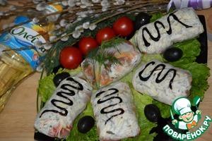 Рецепт Рисовые лепешки с курочкой и овощами