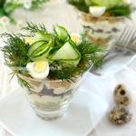 Порционный салат с нутом