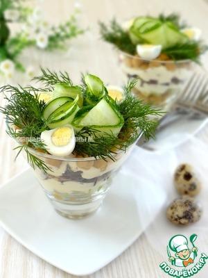 Порционный салат с нутом домашний пошаговый рецепт приготовления с фотографиями готовим