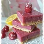 Десерт Малиново-лимонадные брусочки