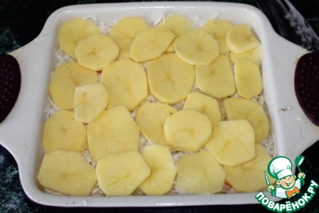 Как приготовить Постная овощная запеканка с квашеной капустой пошаговый рецепт с фото #8