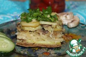 Рецепт Постная овощная запеканка с квашеной капустой