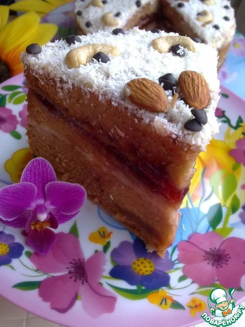 Торт чайный с яблоками