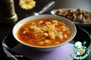 Рецепт Изумительно ароматный гороховый суп