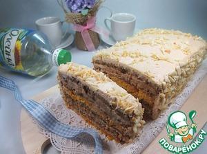 Торт с кремом из ряженки