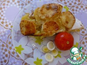 Рецепт Картошка в духовке с куриным филе