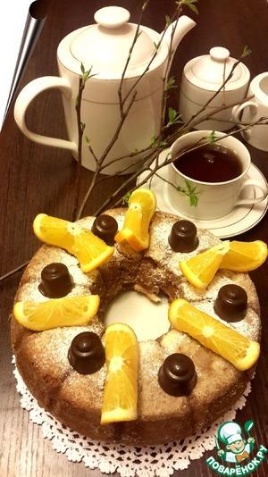 Рецепт Ленивый дрожжевой кекс