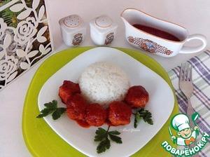 Куриные фрикадельки в томатном соусе вкусный рецепт приготовления с фотографиями