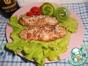 Рецепт Запеченные куриные котлеты в кунжуте