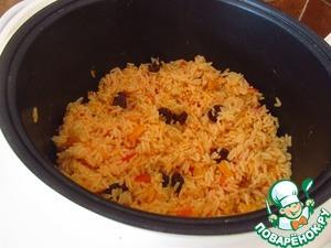 Рецепт Рис с овощами и изюмом в мультиварке