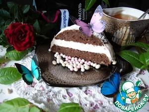 Рецепт Творожно-малиновые пирожные из фасоли